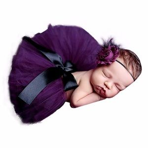 Other - Newborn Purple Tutu & Headband Photography Prop